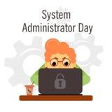 Interface gestionnaire Appreciation Day illustration libre de droits