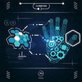 Interface. Graphic of a scientific interface Royalty Free Stock Photography