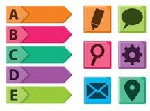 Interface Icon Set Stock Image