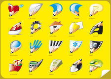 Interface icons Stock Photos