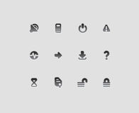 Interface icons. For computer programs and web-design. Vector illustration Stock Photos