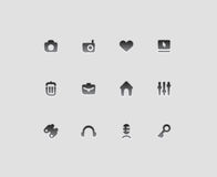 Interface icons Stock Photo