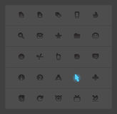 Interface icons Stock Photos