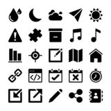Interface Icons Collection stock illustration