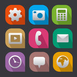 Interface icons flat Royalty Free Stock Images