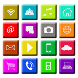 Interface Icons, multi colored Royalty Free Stock Photography