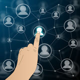 Interface with icons of people Royalty Free Stock Image