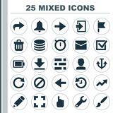 Interface Icons Set. Collection Of Armature, Db, Siren And Other Elements. Also Includes Symbols Such As Light, Ban Royalty Free Stock Image
