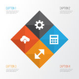 Interface Icons Set. Collection Of Options, Load, Change And Other Elements. Also Includes Symbols Such As Load, Arrow. Interface Icons Set. Collection Of Royalty Free Stock Image