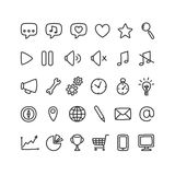 Interface icons Royalty Free Stock Photography