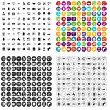 100 interface icons set vector variant. 100 interface icons set vector in 4 variant for any web design isolated on white Royalty Free Stock Photography