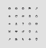 Interface icons for signs Royalty Free Stock Photography