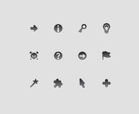 Interface icons for signs Stock Photography