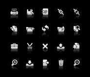 Interface Icons // Silver Series Royalty Free Stock Photo