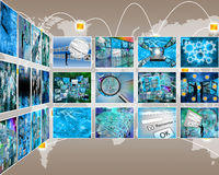 Interface of images Stock Images