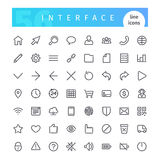 Interface Line Icons Set. Set of 56 interface line icons suitable for web, infographics and apps. Isolated on white background. Clipping paths included vector illustration