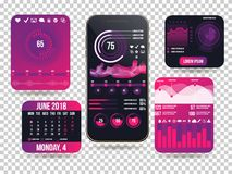 Interface mobile d'application Photo libre de droits