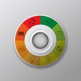 Interface modern button Royalty Free Stock Photo