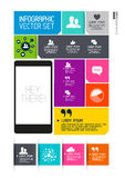 Interface moderne d'Infographics Photo stock