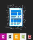 Interface paper sticker with hand drawn elements Stock Images