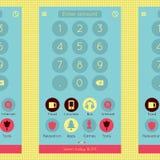 Interface plate moderne abstraite d'application de gestionnaire financier pour le Web Photos libres de droits