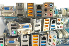 Computer main boards Royalty Free Stock Photos