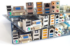 Computer main boards Royalty Free Stock Photo