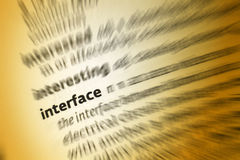 Interface stock images