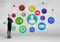 Interface presentation Royalty Free Stock Image