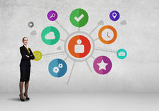 Interface presentation Royalty Free Stock Images
