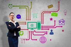 Interface presentation Stock Image