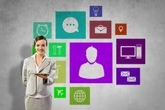 Interface presentation Stock Photos