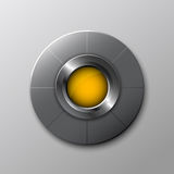 Interface steel button Stock Image