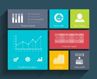 Interface Template with Diagrams Royalty Free Stock Image