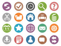 Interface and toolbar buttons icon set Royalty Free Stock Images