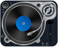 Interface Turntables. Vector illustration of modern turntable with a plate on a white background Stock Image