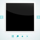 Template for placement of media content Royalty Free Stock Photography
