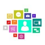 Interface utilisateurs Images stock