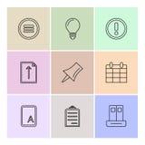 interface utilisateurs, boutons, application, multimédia, icônes d'ENV illustration libre de droits
