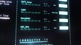 Interface utilisateurs d'analyseur de Wi-Fi sur l'affichage d'ordinateur Concept de TV illustration de vecteur