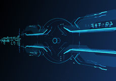 interface utilisateurs 3d futuriste Images stock