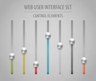 Interface utilisateurs d'utilisateur web réglée - glisseurs Images libres de droits