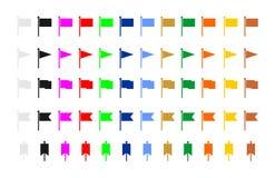 Interface utilisateurs de drapeau illustration stock