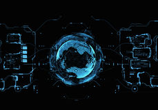 Interface utilisateurs futuriste illustration de vecteur