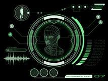 Interface utilisateurs futuriste d'écran tactile HUD Photos libres de droits