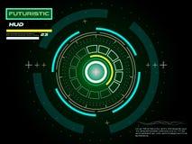 Interface utilisateurs futuriste d'écran tactile HUD Photos stock