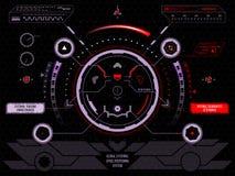 Interface utilisateurs futuriste d'écran tactile HUD Image stock