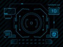 Interface utilisateurs futuriste HUD Images stock