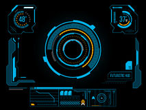 Interface utilisateurs futuriste HUD illustration libre de droits
