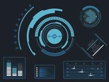 Interface utilisateurs futuriste HUD Photo libre de droits
